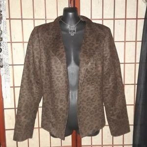 Leopard Print Jacket by Investments